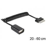 USB A(F)/Samsung 30pin (USB Host/OTG kabel) spiral Delock 83300