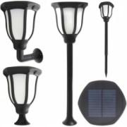 Felinar solar 1W LED SMD aplica solara 60 lm 4 moduri iuminare alb rece IP54