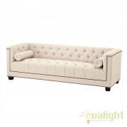 Canapea design clasic, elegant cu tesatura de panama Paolo 108207U HZ