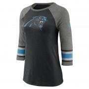 Nike Tri-Blend Raglan (NFL Panthers) 3/4-Ärmel-T-Shirt für Damen - Schwarz