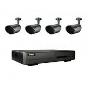 AV-TECH HDTV-system utomhus, 4 kameror, NVR med 4 kanaler, 1TB hårddisk
