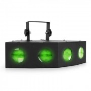Beamz Foco mini LED con efecto de luz moonflower de 4 lentes (SKY-153.428)