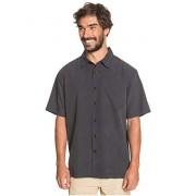 Quiksilver Cane Island Camiseta para Hombre, Isla de Caña Negra, Large