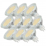 [lux.pro]® Set de 10 bombillas LED SMD Spots [MR16 GU5.3] [8-16V CA/CC] [luz blanca cálida] 54SMD luz de bajo consumo