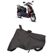 De AutoCare Premium Quality Grey Matty Two Wheeler Scooty Body Cover for Hero Electric Optima Plus