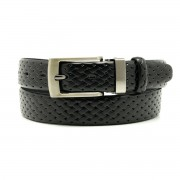 Men leather belt Willsoor 8541 in black color