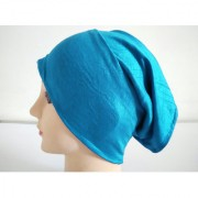 Hijab TUBE CAP SKY BLUE Under Scarf Abaya Muslim Inner Islamic Wear Women Attire Men Bonnet Hair Band Head Cover Chemo