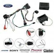 COMMANDE VOLANT Ford Ranger 2012- (avec ecran deporte) - Pour KENWOOD complet avec interface specifique