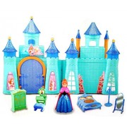 SmartPick Fashion Frozen Complete Doll House play Set with Miniature Princess Figurine (Cool Princess Castle)