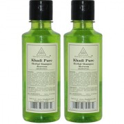 Khadi Pure Herbal Aloevera Shampoo - 210ml (Set of 2)