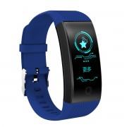 QW18 HD Color Display Smart Wristband Waterproof Sports Fitness Tracker Heart Rate Monitor Bracelet - Blue