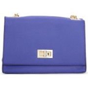 Call It Spring Women Casual Blue Genuine Leather Sling Bag