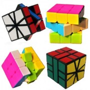 COMBO Fast And Smooth 3x3x3 Speed Rubik's Cube + Square 1 Magic Cube Puzzle Toy