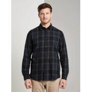 TOM TAILOR Geruit hemd, Heren, black navy big check, XL
