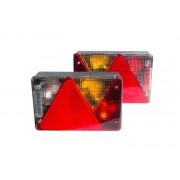 Kit éclairage: feux droit et gauche Multipoint IV Aspöck 5 fonctions