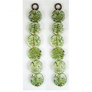 eshoppee Loose glass beads for jewellery making and home decoration 8 strings set of 2