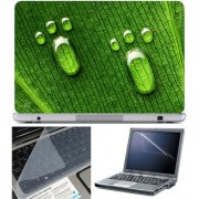 Finearts Laptop Skin 15.6 Inch With Key Guard & Screen Protector - Water Drop Foot