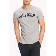 Tommy Hilfiger Maglietta grigia da uomo Tommy Hilfiger SS Tee Logo - S