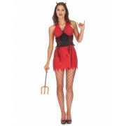 Vegaoo Teufelinnen Kostüm für Damen
