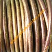 Cuero 4,5 mm dorado viejo (precio por 20cm)