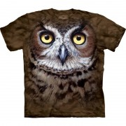 The Mountain All-over print t-shirt met uil