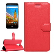 For Wileyfox Swift 2 & Wileyfox Swift 2 Plus (5.0) Litchi Texture Horizontal Flip Leather Case with Magnetic Buckle & Holder & Card Slots & Wallet (Red)