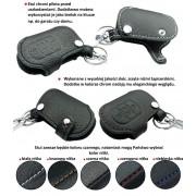 Husa cheie din piele pentru Audi A1 A3 A4 A5 A6 Q3 Q5 Q7, cusatura neagra, pentru cheie cu 3 butoane