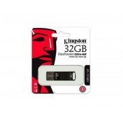 Pendrive, 32GB, USB 3.1, 180/50MB/s, vízálló, KINGSTON DataTraveler Elite G2, fekete (UK32GTEG2)