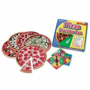 Learning Resources Pizza : Fraction Fun Math Game, For Grades 1 and Up -:- Sold as 2 Packs of - 1 - / - Total of 2 Each