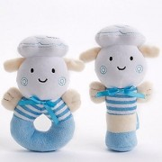 New Arrival Premium Quality Soft Rattle Plush Toy Blue A Perfect Baby Gifts For Boys And Baby Boy Toys