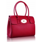 Kabelka LS0045A - Luxury Red Satchel Grab Handbag