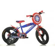 "Bicicleta copii DINO BIKES 416UL CA, Roti 16"", Capitan America"