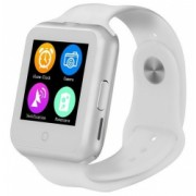 Ceas Smartwatch cu Telefon iUni V88 1.22 inch BT 64MB RAM 128MB ROM Alb Bonus Bratara Roca Vulcanica unisex