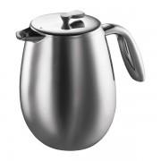 Bodum COLUMBIA Cafetière à piston, double paroi, 12 tasses, 1.5 l, en inox Mat