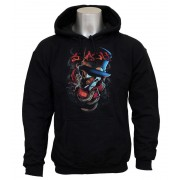 sweat-shirt avec capuche pour hommes Guns N' Roses - Smoker - ROCK OFF - SLHOOD01MB