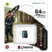 64GB microSDXC Kingston Canvas Go! Plus A2 U3 V30 170MB/s bez adaptéra