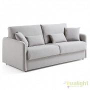 Canapea moderna cu saltea spuma poliuretanica KOMODO 140 gri deschis S388VA03 JG