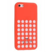 Silicone Rubber Case for iPhone 5c - Apple Soft Cover (Red)