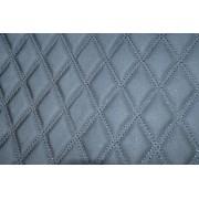 Material special pentru COVORASE auto romb negru/cusatura neagra. Cod: COV02NN