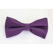 Pánský fialový motýlek s čtverečky 855