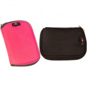 Sky Hard Disk Pouch Combo Pink With Black