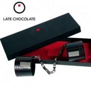 Poignets menottes cuir Late Chocolate