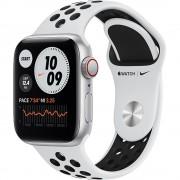 Smartwatch Watch Nike SE LTE 40mm Aluminiu Argintiu Si Curea Sport Pure Platinum Black Argintiu APPLE
