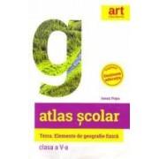 Atlas scolar - Clasa 5 - Terra. Elemente de geografie fizica - Ionut Popa