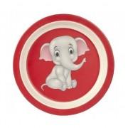 Merkloos Bamboe ontbijtbord olifant voor kinderen 21 cm