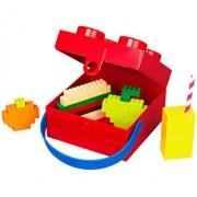 LEGO, Cutie pentru sandwich 2x2, cu maner - rosie