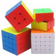 Paquete De 4 Piezas Cubo Magico Shengshou GEM Serie - Vistoso
