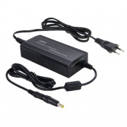 100W Notebook Power Adapter with Car Charger Cable EU Plug(Black)