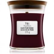Woodwick Black Plum lumânare parfumată cu fitil din lemn 275 g