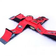 Tradico® Skate Park Ramp Parts for Tech Deck Fingerboard Finger Board Ultimate Parks Red